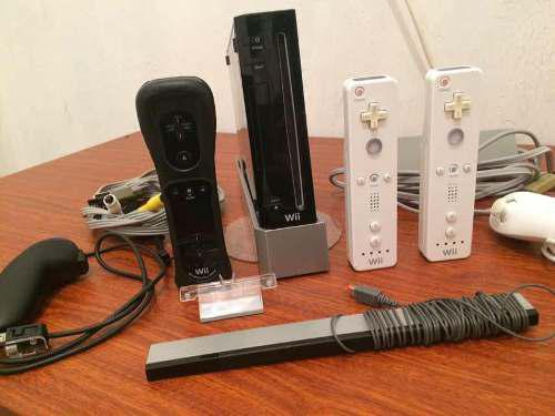 Nintendo wii 2controles 7juegos 1nunchuks 8gb usb 2gb sd 50v