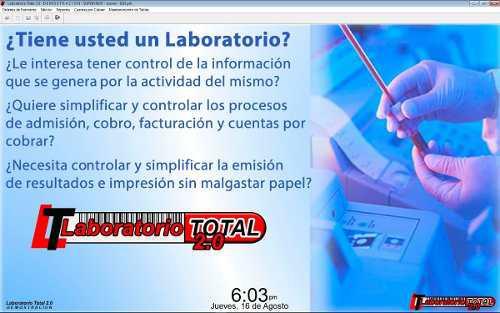 Software para laboratorio clínico laboratorio total 2.0
