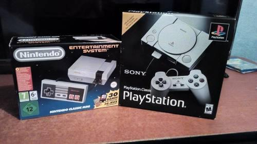 Classic nes y classic play station