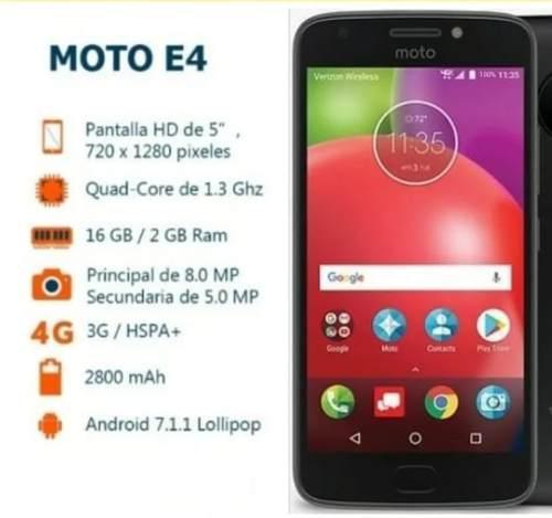 Motorola moto e4 sin huella + glass + obsequio garantia30d