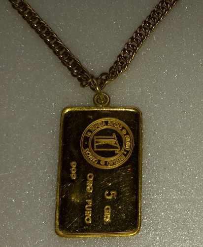 Oro medalla de oro 24 kilates 5grs. ley 999 beachin