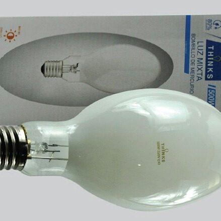Bombillos luz mixta grandes 500w 220v rosca gruesa e40.