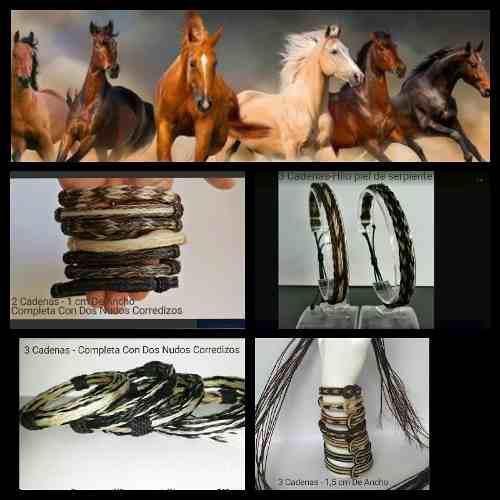 Pulseras originales en pelo de caballo