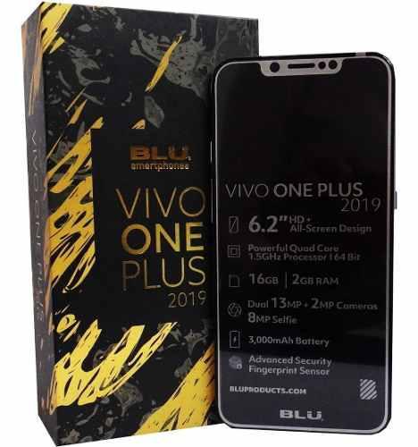 Telefono blu vivo one plus 2019 android dual sim liberado