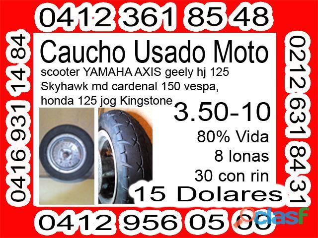 Caucho Usado Moto 3.50 10