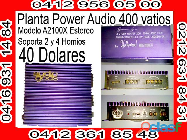 Planta Power Audio Gods 12v 400 vatios