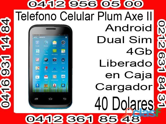 Telefono celular plum axe ii dual sim