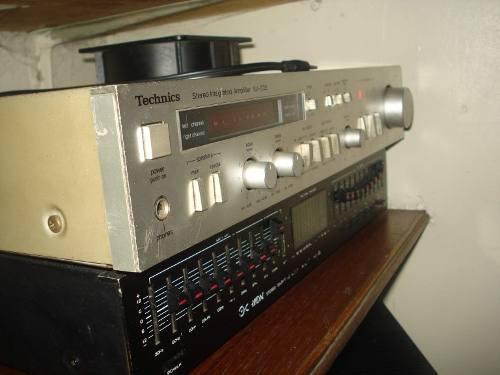 Combo amplificador technics, ecualizador orion y 4 cornetas