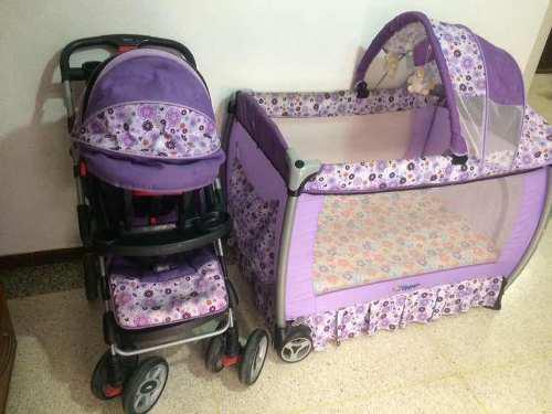 Corral, coche y silla para niñas flipper