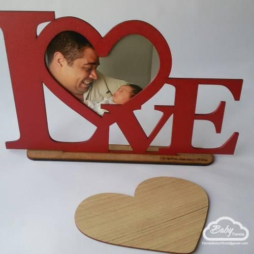 Amor en mdf, regalo, dia del amor portaretrato