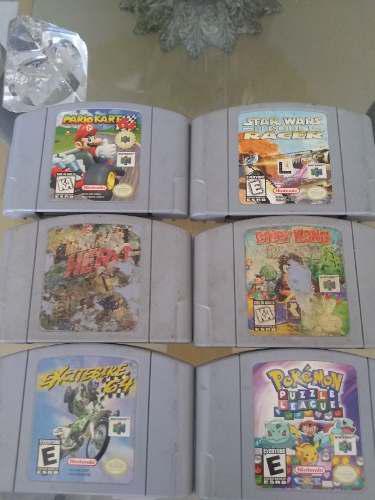 Juegos nintendo 64 mario kart pokemon y otros