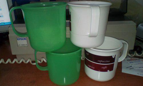 Tazas set de mesa tupperware precio c/u