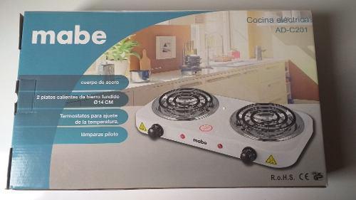 Cocina eléctrica 2 hornillas mabe 110v 2000w 20 americanos
