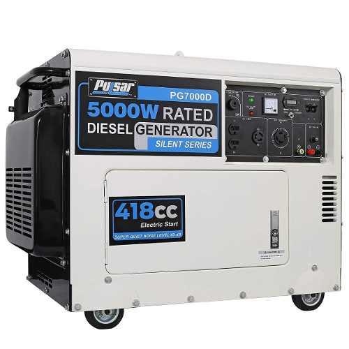 Planta electrica 5000 watt 6.2 kva 120/240v generador diesel