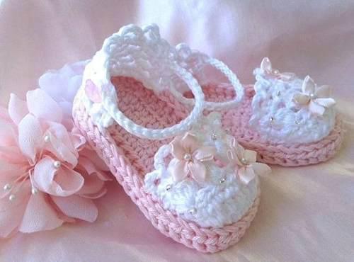 Zapatillas balerinas tejidas bebe