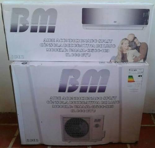 Aire acondicionado split de 12mil btu bm consola de lujo