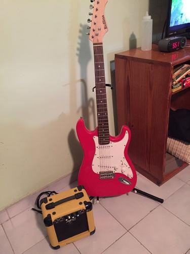 Combo guitarra eléctrica rollins + mini amplificador