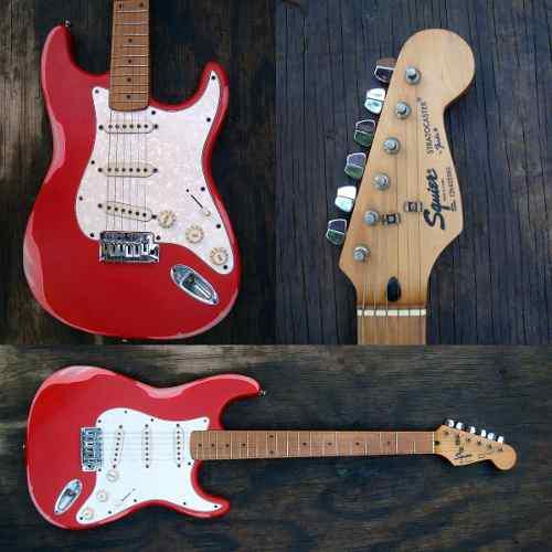 Fender squier bajo guitarra stratocaster korea 95