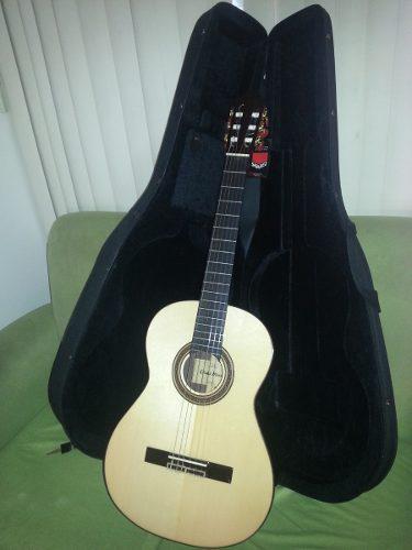 Guitarra acústica profesional ossia con estuche duro