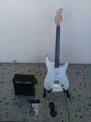 Guitarra electrica aria stg nueva + planta aria 10 w