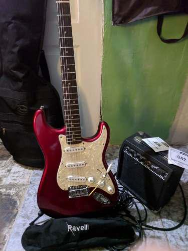 Guitarra electrica fender startcaster casi nueva 0 detalles
