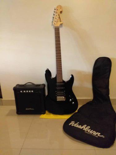 Guitarra electrica washburn con amplificador incluido