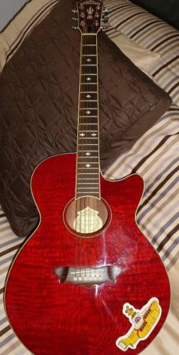 Guitarra electroacústica washburn ea18tr