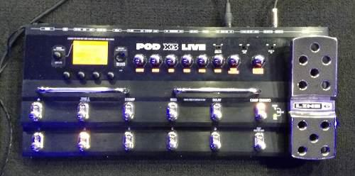 Line 6 pod x3 live (pedalera) bajo, guitarra y voz