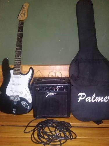 Oferta guitarr electrica,amplificador, cable, forro y correa