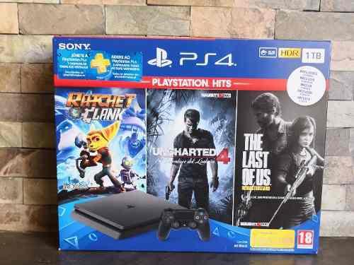Playstation 4 slim 1tb + 1 control + 3 juegos