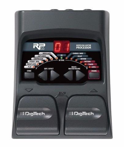 Procesador digitech rp 55 mas pedal fcv 100 behringer