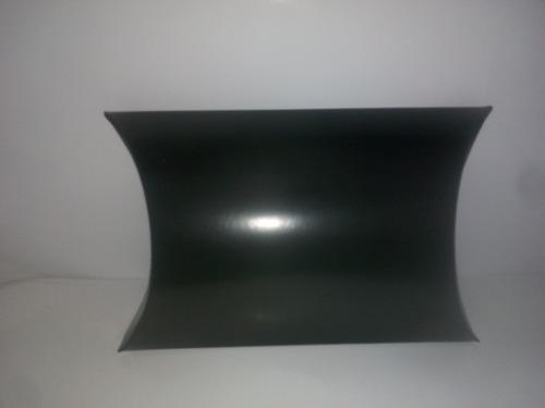 Caja almohada 10x10 en negro- (precio por docena)