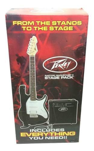 Combo raptor stage pack guitarra negra peavey oferta