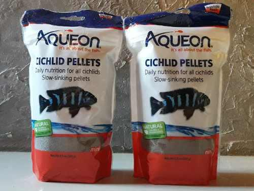 Alimentos de peces aqueon cichlid pellets 241 gramos