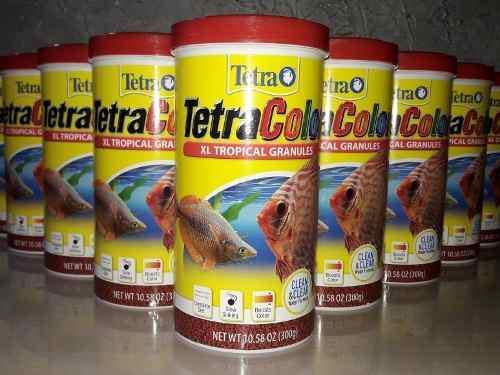 Alimentos de peces tetra color granules