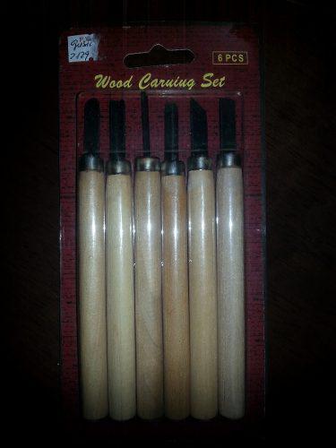 Juego de 6 gubias para tallar madera. carpinteria,artesania