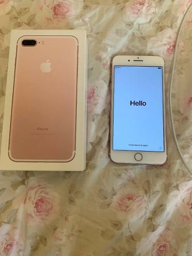 Iphone 7 plus 128gb rosado condicion 9/10 cargador + caja