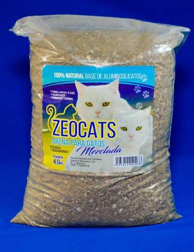 Arena gatos zeocats mezclada 4 kg mascotas animales