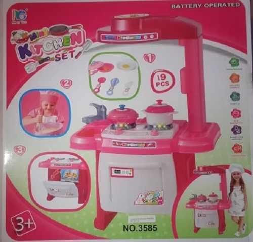 Cocina juguete para niñas con luz y sonido accesorios