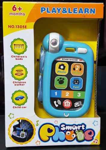 Sonajero telefono juguete para bebe luces (tienda) cod 556