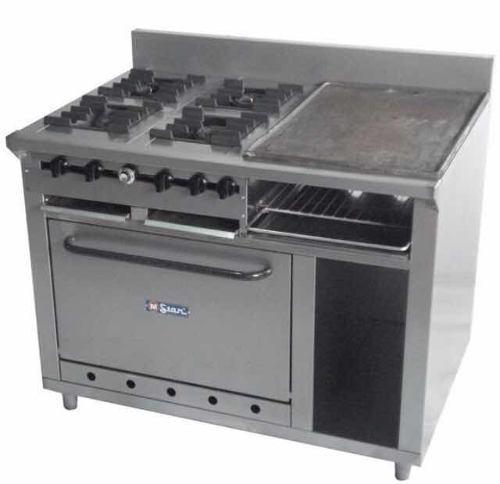 Cocina industrial 4 hornillas horno plancha gratinador
