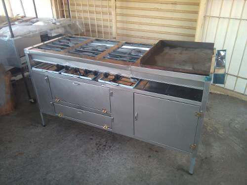 Cocina industrial de 6 hornilla