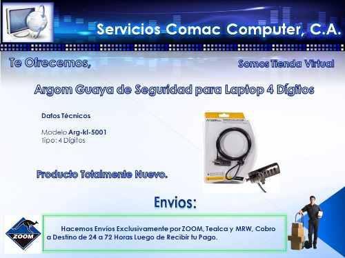 Guaya De Seguridad Para Laptop Argom 4 Digitos Arg-kl-5001