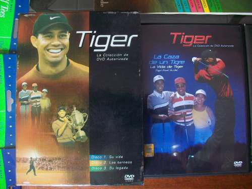 Libros,tees, cd original de tiger woods..articulos para golf