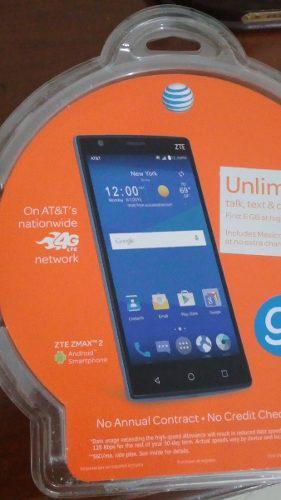 Smartphone telefono android marca zte modelo max 2. 16gb