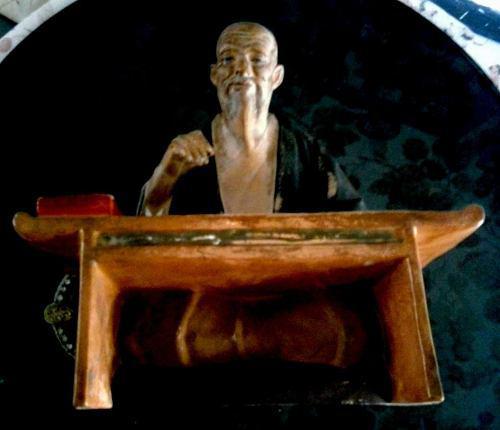 Escriba Japones Cerámica Antiguo 20 * 23 Cms