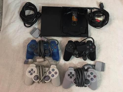 Play station 2 + 4 controles