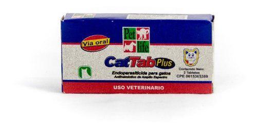 Antiparasitario cat tab plus 1 tab gatos animales mascotas