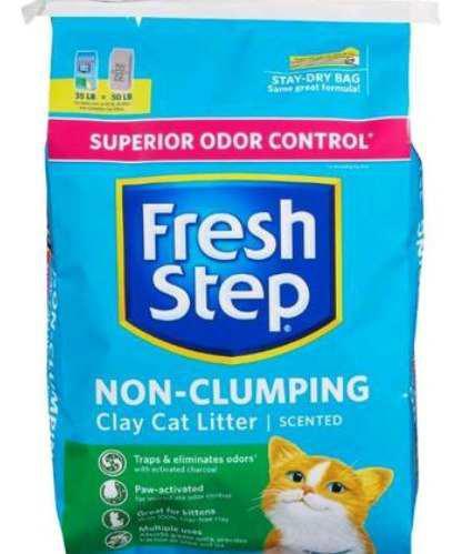 Arena para gatos sanitaria perfumada 40 lbs marca fresh step