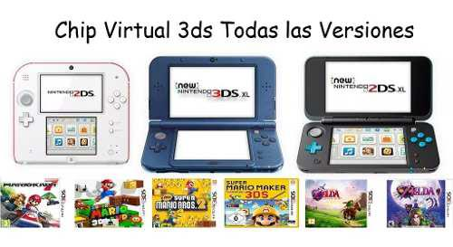 Chip virtual nintendo 2ds 3ds 3ds xl + sorpresas sin r4